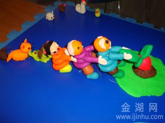 幼儿简单彩泥作品教学图解图片